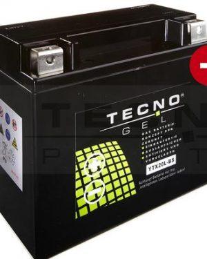 BATTERIE TECNO-GEL YTX20-BS 12V 18AH DIN 51890 f. HARLEY DAVIDSON