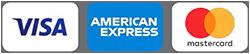 Kreditkarten Logos, Visa, American Express, Eurocard