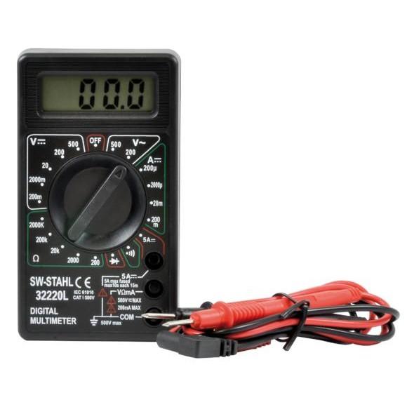 Multimeter digital bis 1000 V / 10 A mit Überlastungsschutz - robust und zuverlässig - incl. Batterien